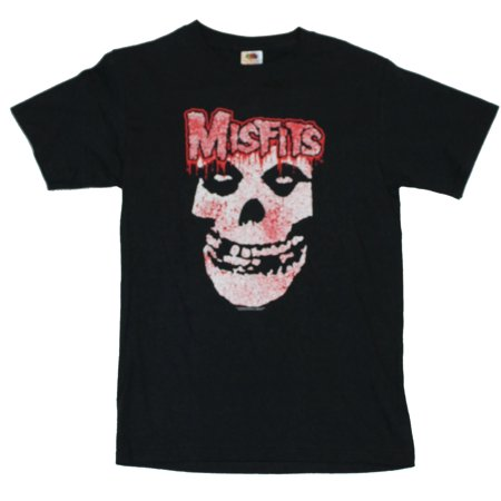The Misfits Mens T-Shirt  - Blood Splattered Classic Misfit Skull Image on Bla (X-Large)](Halloween Blood Splatter Clothes)