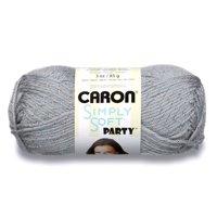 CARON SIMPLY SOFT PARTY YARN (85G/3OZ), PLATINUM SPARKLE