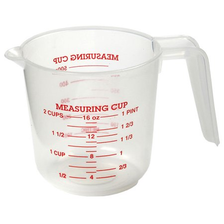 norpro 2 cup plastic measuring cup. Black Bedroom Furniture Sets. Home Design Ideas