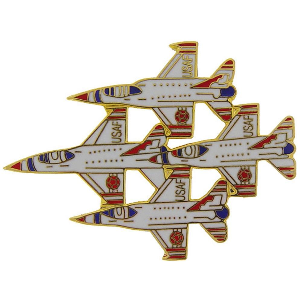 F-16 Fighting Falcons In Diamond Formation Pin 1 3/4""