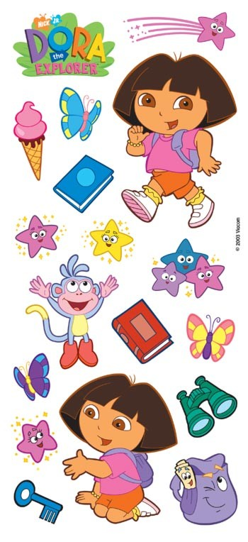 Clear Sticker Dora the Explorer 5.5'' x 12'' Toys Gifts New pdora21 by Trend