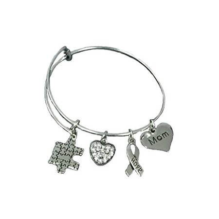 Autism Mom Bracelet Awareness Jewelry Puzzle Piece Makes The Perfect Gift
