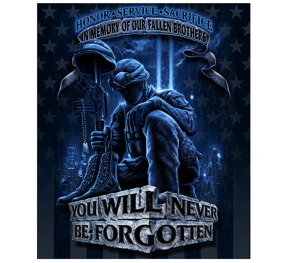 Patriotic Gift For Men Women - Throw Blanket Military Army Marines USMC Heroes Never Forget a Fallen Soldier