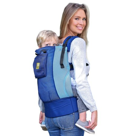 LILLEbaby 3 in 1 CarryOn Air Toddler Carrier, Blue/Aqua. Made specifically to be a roomy carrier for growing toddlers, the carryon toddler carrier creates an ergonomic and comfortable way to carry your child for many years. Featuring a wider and taller torso than most carriers, the carryon is possibly the most versatile toddler carrier on the market. The carryon carrier is ideal for older siblings or when you baby has grown out of the LILLEbaby complete carriers. Breathable 3d mesh for maximum air circulation brings a breath of fresh air for you and baby. Like all LILLEbaby carriers, the carryon toddler straps can be crossed in back when wearing on the front.