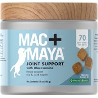 Mac+Maya Joint Support with Glucosamine for Dogs, 70 Soft Chews