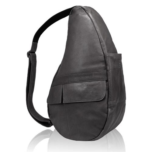 AmeriBag Medium Leather Healthy Back Bag - Black Medium Leather Healthy Back Bag
