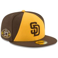 San Diego Padres New Era 50th Anniversary Authentic Collection On-Field 59FIFTY Fitted Hat - Brown/Gold