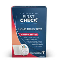 First Check 7 Drugs Complete Home Drug Test Kit With Specimen Cup - 1 Kit
