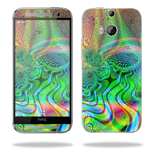 Mightyskins Protective Skin Decal Cover for HTC One M8 wrap sticker skins Psychedelic