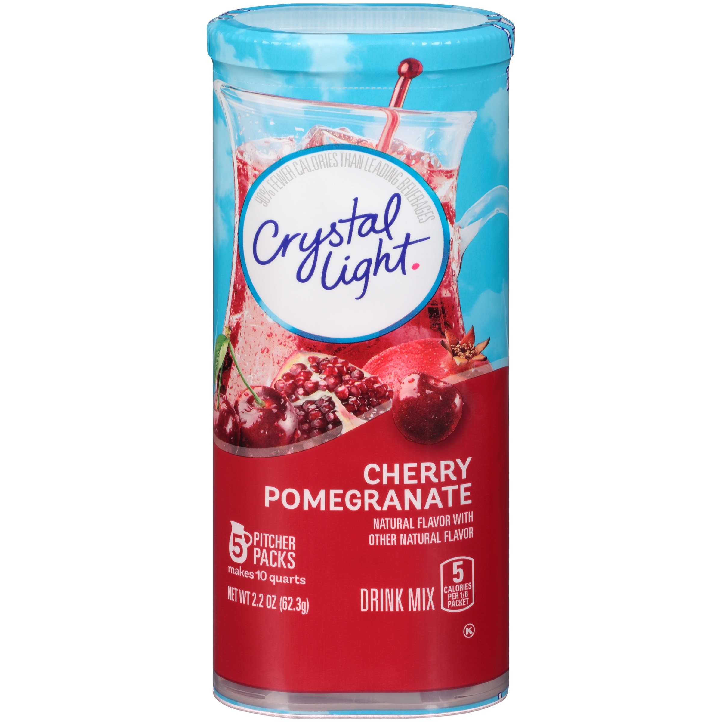 Crystal Light Cherry Pomegranate Drink Mix 5 ct Canister