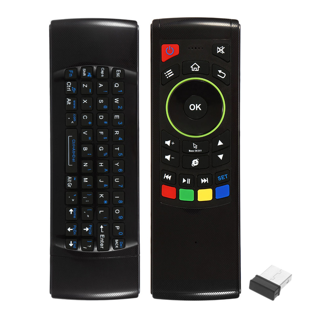 2.4G Air Mouse Wireless Keyboard Remote Control 6-Axis Sensor with Infrared Remote Learning for TV BOX Smart TV