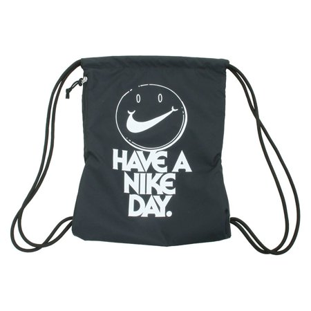 Nike nkBA5430 015 Heritage Gym Sack (Black//White Graphic)