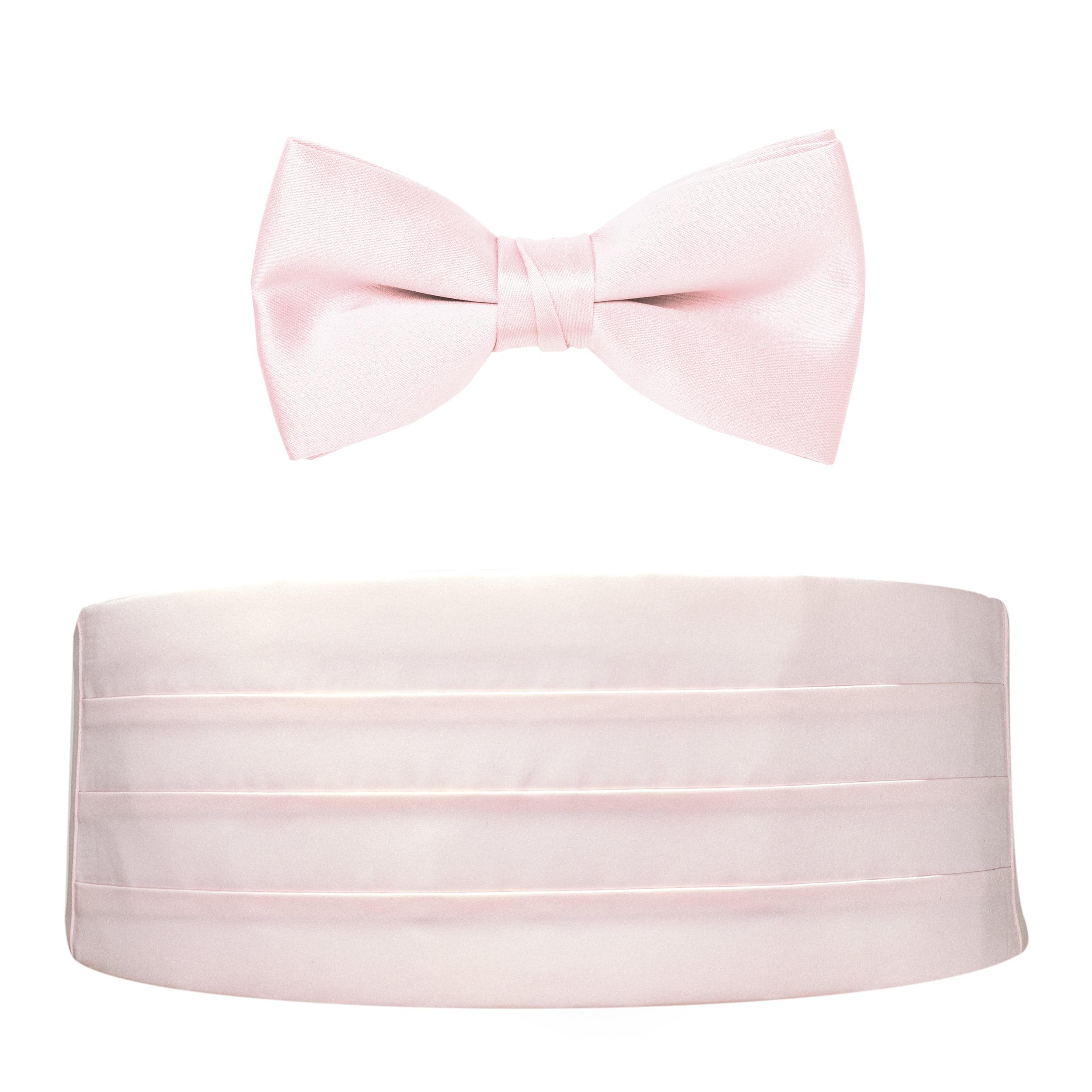 Boys Dusty Pink Cummerbund Bow-tie Special Occasion Accessories Set