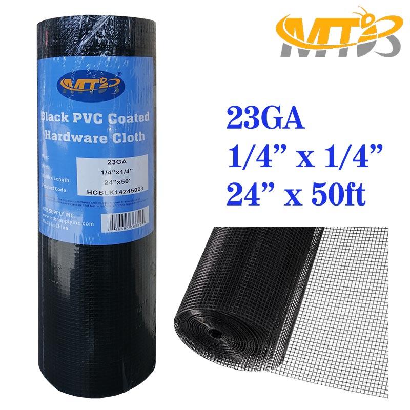 1//4 x1//4 inch Mesh 23GA MTB Galvanized Hardware Cloth 24 in x 50 ft