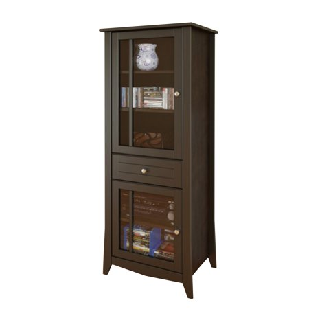 Reims 1-Drawer Curio Cabinet – Espresso
