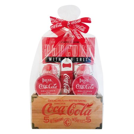 Coca-Cola Wooden Crate Christmas Gift Set, 9 Pieces ()