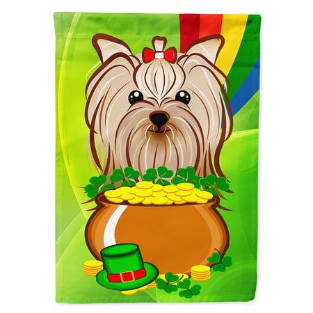 - Yorkie Yorkshire Terrier St. Patrick's Day Garden Flag