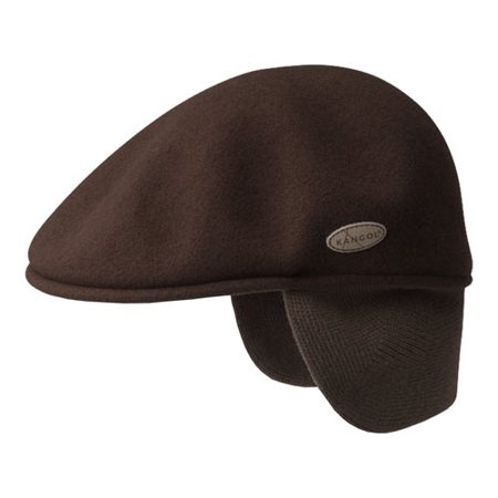 - Men's Kangol 504 Wool Earlap Flat Cap