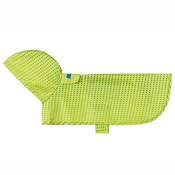 Pitter Patter Packable Dog Rain Poncho - Lime Halftone X-Small - Poncho Dog