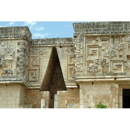 LAMINATED POSTER Decoration Uxmal Mexico Ruins Vault Maya Poster Print 11 x 17 - Mexico Decoration