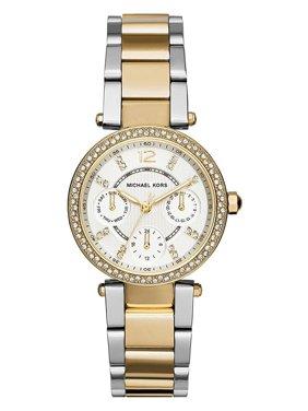 7bf69909a574 Product Image Michael Kors MK6055 Women s Chronograph Mini Parker Two-tone  Bracelet Watch