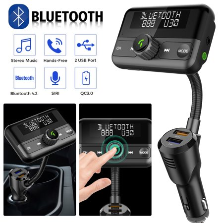 EEEkit Wireless Bluetooth FM transmitter,Support Free Calling,Music  Player,Hands Free Calling,SIRI/Google Assistant