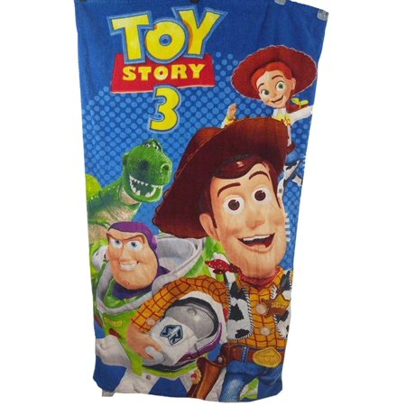 Toy Story 3 Cotton Beach Bath Towel for Kids 30 x 60 Woody Jesse Buzz Lightyear