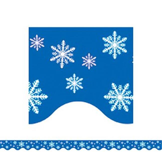 Teacher Created Resources TCR4139 Snowflakes Border Trim