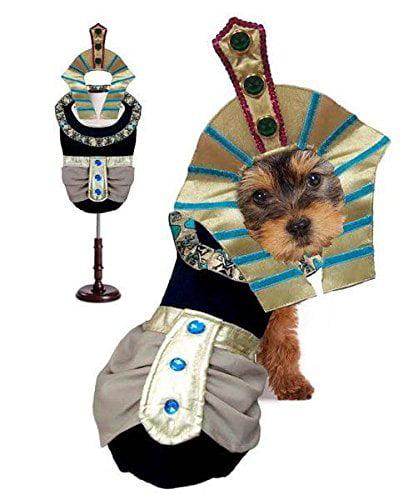 KING MUTT DOG COSTUMES King Tut Egyptian Royalty Pharaoh Dogs Halloween Wear (Size 1)