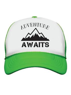 9f681a2ba582c Product Image Adventure Awaits Neon Color Trucker Snapback Baseball Cap  Summer Vacation