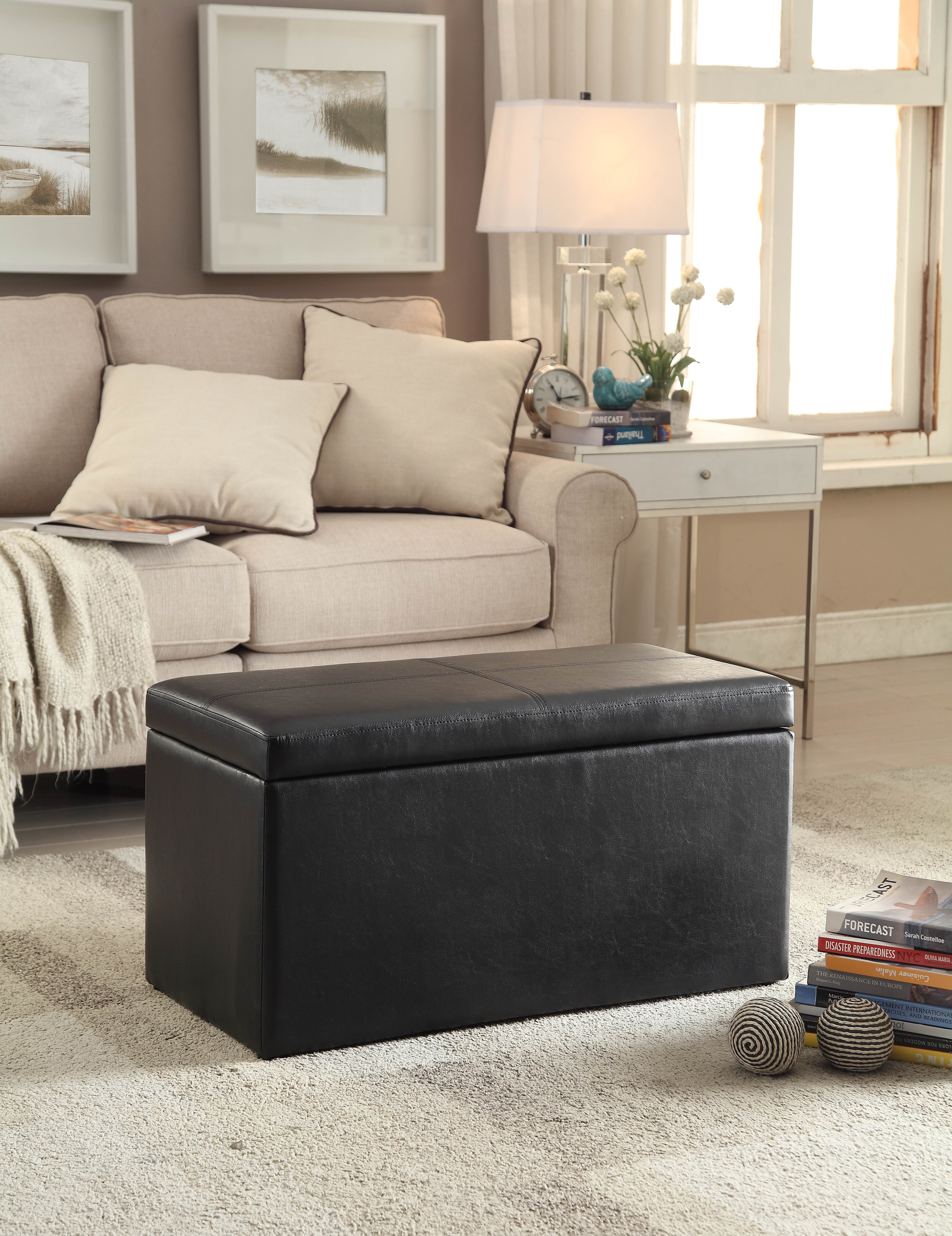Phenomenal Better Homes Gardens 30 Inch Hinged Storage Ottoman Black Andrewgaddart Wooden Chair Designs For Living Room Andrewgaddartcom