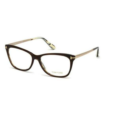 TOM FORD Eyeglasses FT5353 050 Dark Brown (Tom Ford Prescription Glasses Womens)