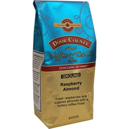 Door County Coffee Raspberry Almond Flavored Specialty Coffee - 8oz Ground