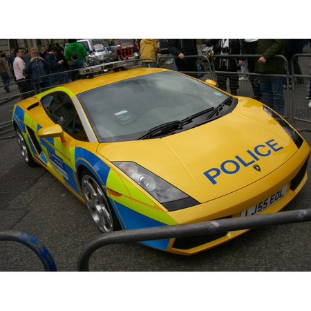 Peel N Stick Poster Of Police Lamborghini Gallardo Exotic Vehicle