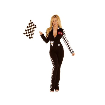 03fb519d550 Elegant Moments EM-9446 2 PC Sexy Race Car Driver Costume Black   S  ...