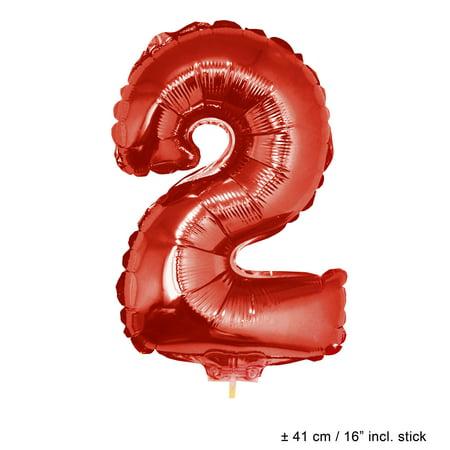 Number 2 Two Jr Mini Solid Jumbo Helium Quality 16