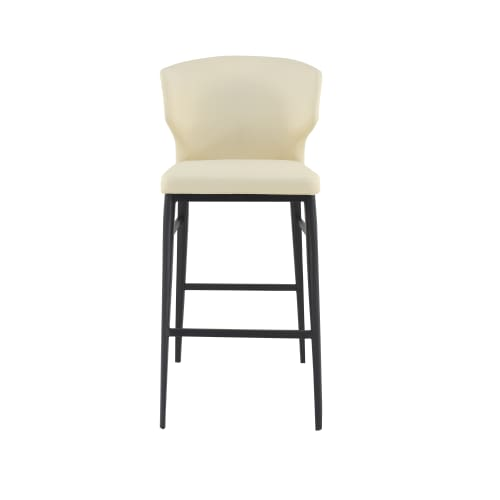 "Moe's Delaney 29"" Bar Stool in Steel Blue by Moes Home Collection"