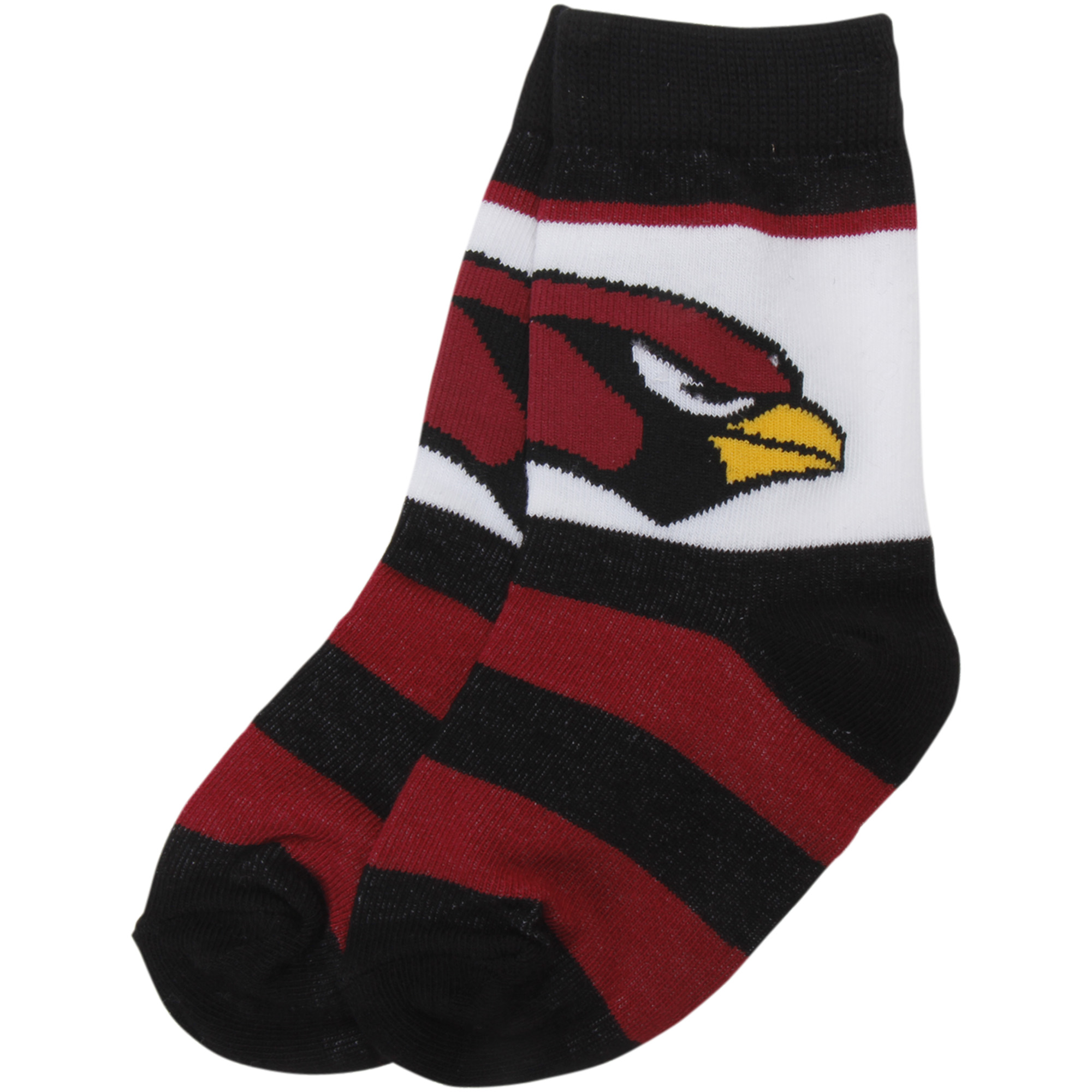 Arizona Cardinals For Bare Feet Toddler Rugby Block Socks - No Size
