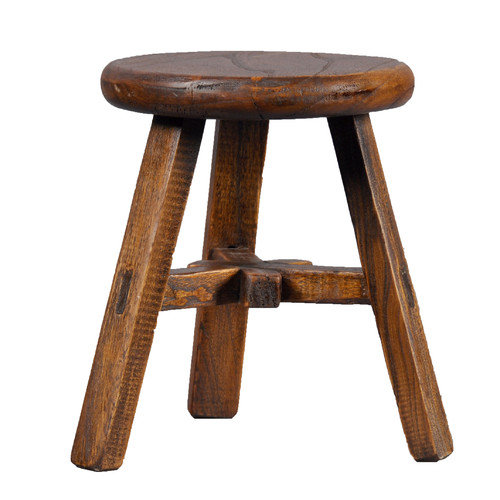 Antique Revival Vintage Round Top Stool