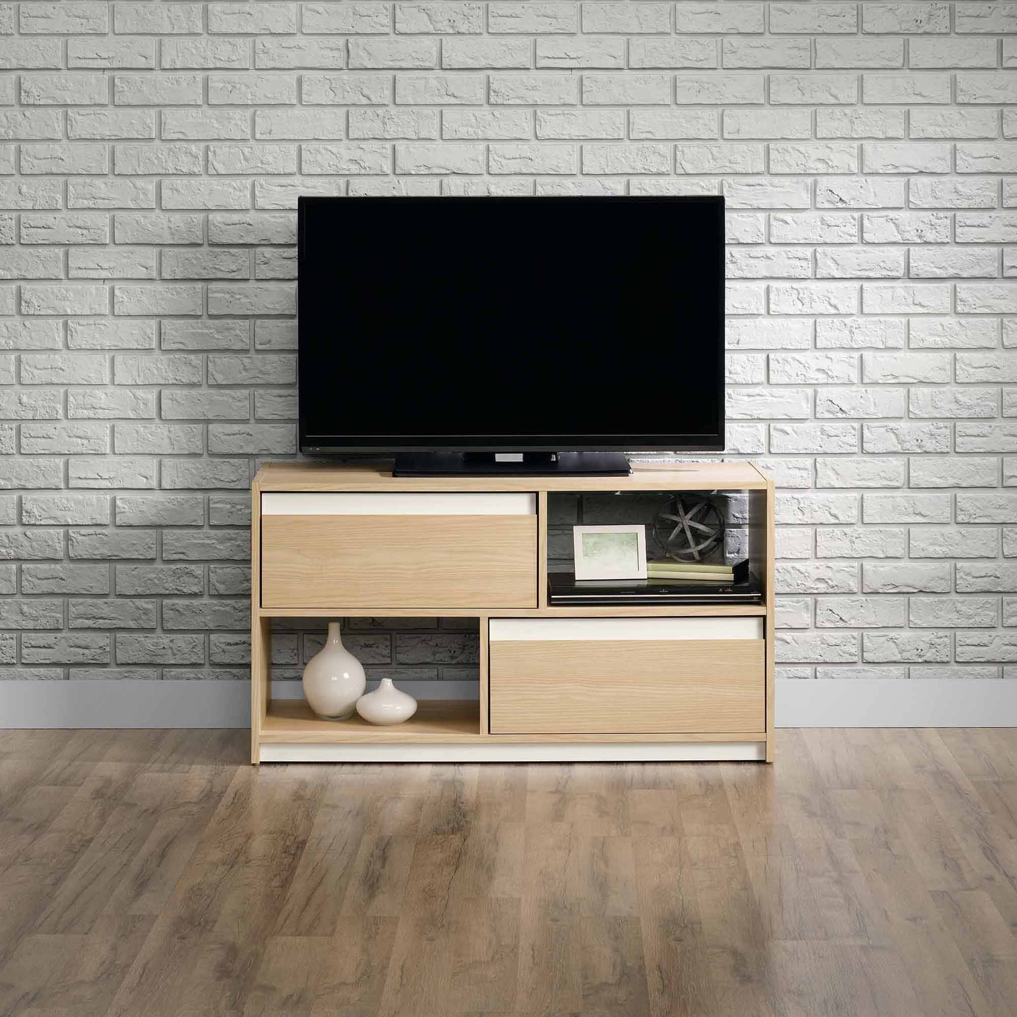 Sauder Square 1 Urban Ash TV Stand for TVs up to 47""