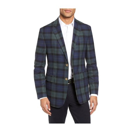 Vineyard Vines Mens Blackwatch Two Button Blazer Jacket balticblue 40 ()