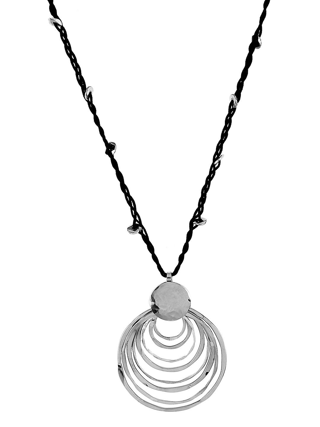 Layered Ring Pendant Necklace