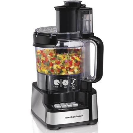 - Refurbished Hamilton Beach Stack and Snap 12 Cup Food Processor | Model# R70725