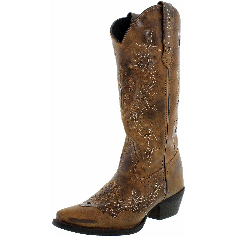 "Laredo Western Boots Womens Cross Point Cowboy 13"" Shaft Brown 52033 by Laredo"