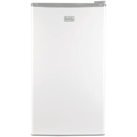BLACK+DECKER 3.2 Cu Ft Mini Fridge with Freezer BCRK32W, White