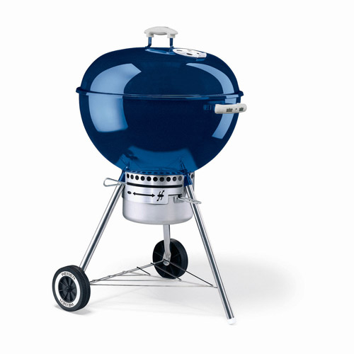 "Weber 363 sq. inch One Touch Gold Charcoal Grill, 22.5"", Blue"
