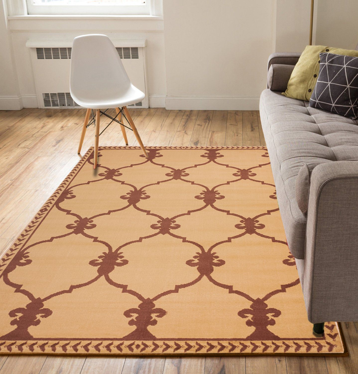 Well Woven Medallion Beige Brown 5' x 7' Area Rug Carpet