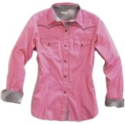 Tin Haul Western Shirt Womens L/S Solid Snap Pink 10-050-0060-0343 PI