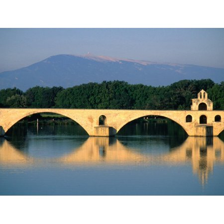 Pont Saint Benezet (Le Pont D' Avignon) Across the Rhone River, Avignon, France Print Wall Art By John Elk