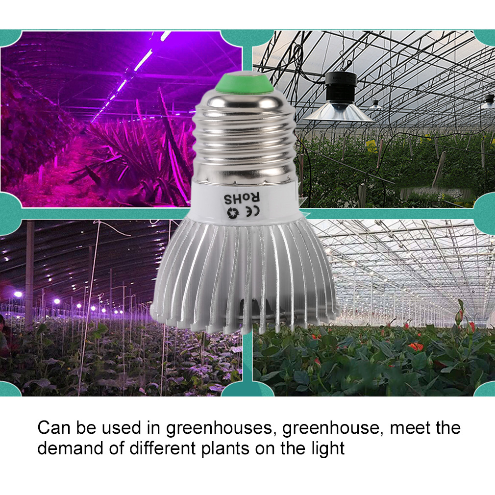 LED Plant Grow Light E27 Hydroponics For Indoor Greenhouse Flower Grow Box